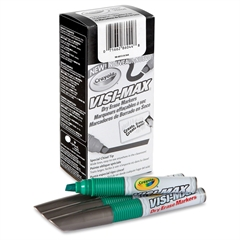 Visi-Max Dry Erase Markers - Bold Point Type - Chisel Point Style - Green - 1 Dozen