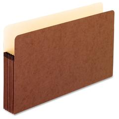 """Pendaflex Redrope File Pockets - Legal - 8 1/2"""" x 14"""" Sheet Size - 1050 Sheet Capacity - 5 1/4"""" Expansion - Fiber, Manila, Redrope - Redrope - Recycled - 1 Each"""