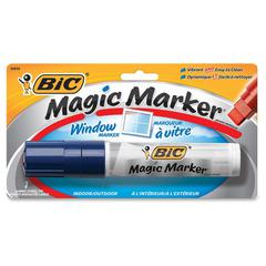BIC Jumbo Window Marker - Jumbo Point Type - Chisel Point Style - Blue Water Based Ink - 1 Pack