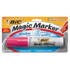 BIC Jumbo Window Marker - Jumbo Point Type - Chisel Point Style - Pink Water Based Ink - 1 Pack