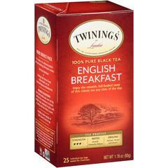 Twinings English Breakfast Black Tea - Black Tea - English Breakfast - 25 Cup - 25 / Box