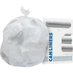 "Heritage Trash Bag - 16 gal - 24"" Width x 33"" Length x 0.31 mil (8 Micron) Thickness - High Density - Natural - High-density Polyethylene (HDPE) - 1000/Carton - Can"