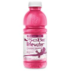 Sobe Lifewater Dragonfruit Bottled Drink - Strawberry Dragonfruit Flavor - 20 fl oz - Bottle - 12 / Carton