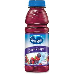 Ocean Spray Cran-Grape Juice Drink - Cranberry, Grape Flavor - 15.20 fl oz (450 mL) - Bottle - 12 / Carton