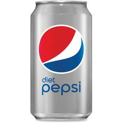 Diet Pepsi Canned Cola - Diet - Soda, Cola Flavor - 12 fl oz (355 mL) - Can - 12 / Pack