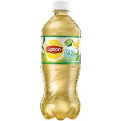 Lipton Pepsico Diet Citrus Green Tea Bottle - Green Tea - Citrus - 24 Bottle - 24 / Carton