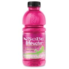 Sobe Lifewater Flavored Beverage Drink - Kiwi Strawberry Flavor - 20 fl oz - Bottle - 12 / Carton