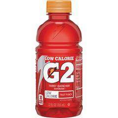 Gatorade Quaker Foods G2 Fruit Punch Sports Drink - Fruit Punch Flavor - 12 fl oz (355 mL) - Bottle - 24 / Carton