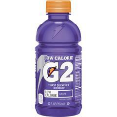 Gatorade Low-Calorie Gatorade Sports Drink - Grape Flavor - 12 fl oz (355 mL) - Bottle - 24 / Carton