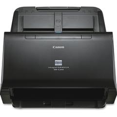 Canon imageFORMULA DR-C240 Sheetfed Scanner - 600 dpi Optical - 24-bit Color - 8-bit Grayscale - 45 - 30 - Duplex Scanning - USB