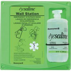 "Honeywell Fendall aline Eyewash Station - 2 lb - 4.5"" x 14"" x 13"" - Green, Clear"