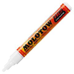MOLOTOW One4All Acrylic Paint Markers - 4 mm Point Size - Round Point Style - Refillable - Signal White Acrylic Based Hybrid Ink - 1 Each