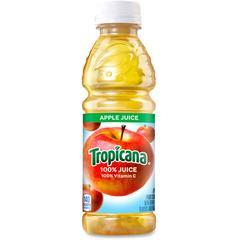 Tropicana Bottled Apple Juice - Apple Flavor - 10 fl oz (296 mL) - 24 / Carton
