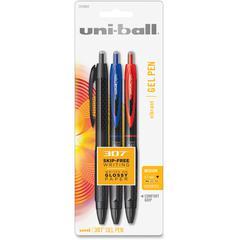 Uni-Ball 307 Gel Ink Pen - 0.7 mm Point Size - Assorted Gel-based Ink - 3 / Pack