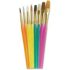 ChenilleKraft Assorted Paint Brush Set - 6 Brush(es) - Assorted, Translucent