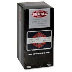 PapaNicholas Breakfast Blend Coffee Pods Pod - Regular - Breakfast Blend, Arabica - Medium - 18 Pod - 108 / Carton