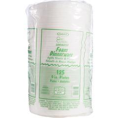 "Dart Classic Laminated Foam Dinnerware Plates - 9"" Diameter Plate - Foam, Plastic - 125 Piece(s) / Pack"