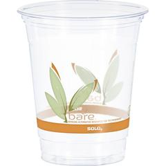 Solo Bare Eco-Forward RPET Clear Cold Cups - 12 fl oz - Clear - Polyethylene Terephthalate (PET) - Beverage, Cold Drink, Smoothie, Coffee