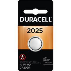 Duracell Coin Cell Lithium 3V Battery - DL2025 - CR2025 - Lithium (Li) - 3 V DC - 1 Each