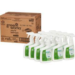 Green Works Natural Bathroom Cleaner - Spray - 0.19 gal (24 fl oz) - 12 / Carton