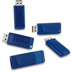 8GB USB Flash Drive - 8 GBUSB - Blue - 5 Pack