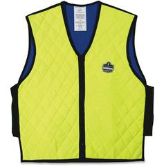 Ergodyne Chill-Its Evaporative Cooling Vest - Comfortable, High Visibility, Ventilation, Stretchable, Water Repellent, Lightweight, Durable, Washable, Reusable, Zipper Closure - Medium Size - Polymer,