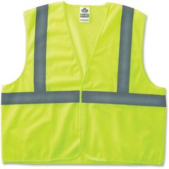 GloWear Class 2 Lime Super Econo Vest - Reflective, Machine Washable, Lightweight, Hook & Loop Closure - 2-Xtra Large/3-Xtra Large Size - Polyester Mesh - Lime - 1 / Each