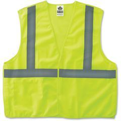 GloWear Lime Econo Breakaway Vest - Reflective, Machine Washable, Lightweight, Hook & Loop Closure, Pocket - Large/Extra Large Size - Polyester Mesh - Lime - 1 / Each