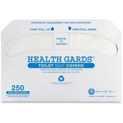 Hospeco Half-fold Toilet Seat Covers - Half-fold - 5000 / Carton - Plastic - White