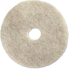 "Impact Products 27"" Natural Floor Pad - 27"" Diameter - 5/Carton x 27"" Diameter x 1"" Thickness - Fiber - Natural"
