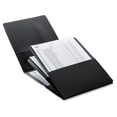 "Smead Organized Up® Poly Stackit® Organizers - Letter - 8 1/2"" x 11"" Sheet Size - 150 Sheet Capacity - 3 Pocket(s) - Polypropylene - Black - 2 / Pack"