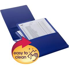 "Smead Organized Up® Poly Stackit® Organizers - Letter - 8 1/2"" x 11"" Sheet Size - 150 Sheet Capacity - 3 Pocket(s) - Polypropylene - Dark Blue - 2 / Pack"