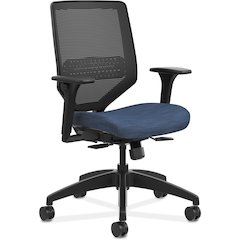 "HON Solve Mid-Back Task Chair - Fabric Midnight Seat - 5-star Base - 29.8"" Width x 28.8"" Depth x 41.8"" Height"