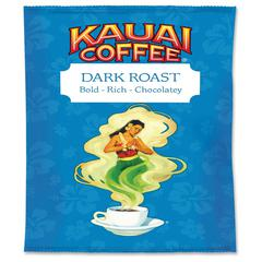Office Snax Kauai Dark Roast Coffee - Regular - Hawaiian Blend - Dark - 2.3 oz - 24 Packet - 24 / Carton