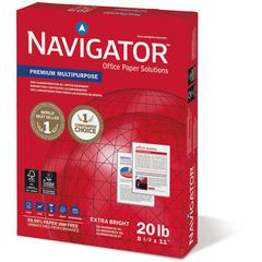 "Navigator Laser, Inkjet Print Copy & Multipurpose Paper - Letter - 8.50"" x 11"" - 20 lb Basis Weight - 97 Brightness - 200000 / Pallet - White"