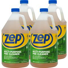 Zep Commercial Multipurpose Pine Cleaner - Concentrate Liquid - 1 gal (128 fl oz) - Pine Scent - 4 / Carton - Brown