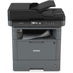 "Brother DCP-L5500DN Laser Multifunction Printer - Monochrome - Duplex - Copier/Printer/Scanner - 600 x 2400 dpi Print - 3.7"" LCD Touchscreen - Gigabit Ethernet - Wireless LAN - USB 2.0"