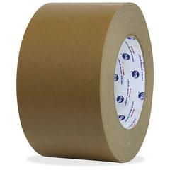 """ipg Medium Grade Flatback Tape - 1"""" Width x 60 yd Length - Synthetic Rubber Backing - 36 / Carton - Brown"""