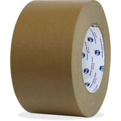 """ipg Medium Grade Flatback Tape - 3"""" Width x 60 yd Length - Synthetic Rubber Backing - 16 / Carton - Brown"""