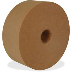 """ipg Med-duty Water-activated Tape - 3"""" Width x 200 yd Length - Medium Duty, Tamper Evident, Durable - 10 / Carton - Natural"""