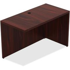 "Lorell Chateau Series Mahogany Laminate Desking - 47.3"" x 23.6"" x 30"" Desk, Top - Reeded Edge - Material: P2 Particleboard - Finish: Mahogany, Laminate"