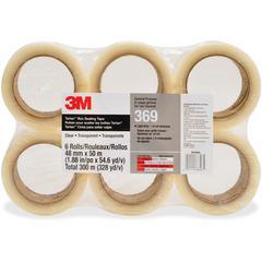 "Tartan General Purpose Packaging Tape - 1.89"" Width x 54.68 yd Length - 3"" Core - Polypropylene Film Backing - Long Lasting, Light Duty - 36 / Carton - Clear"