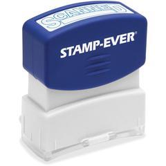 """U.S. Stamp & Sign SCANNED Pre-inked Stamp - Message Stamp - """"SCANNED"""" - 1.81"""" Impression Width x 0.63"""" Impression Length - 50000 Impression(s) - Blue - 1 Each"""