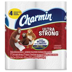 Charmin Ultra Strong Bath Tissue - 2 Ply - White - Durable, Strong, Soft - For Toilet - 4 / Pack