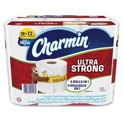 Charmin Ultra Strong Bath Tissue - 2 Ply - White - Durable, Strong, Soft - For Toilet - 18 / Carton