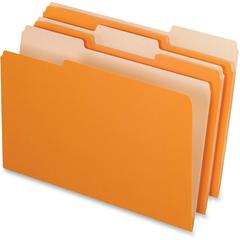 "Pendaflex Grid Pattern Color Legal File Folders - Legal - 8 1/2"" x 14"" Sheet Size - 1/3 Tab Cut - Top Tab Location - 11 pt. Folder Thickness - Stock - Orange - 100 / Box"