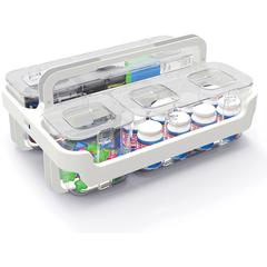"Deflect-o Caddy Organizer - 6.4"" Height x 14"" Width x 10.1"" Depth - Wall Mountable - White - Plastic - 1Each"