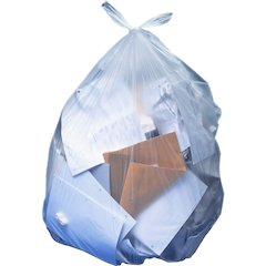 """Heritage Clear Linear Low-density Bags - 45"""" Width x 30"""" Length - Low Density - Clear - Linear Low-Density Polyethylene (LLDPE) - 250/Carton - Can"""