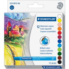 Staedtler WaterColor Crayons - Assorted - 12 / Pack