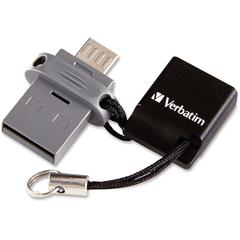 32GB Store 'n' Go Dual USB Flash Drive for OTG Devices - 32 GBMicro USB, USB 2.0 - 1 Pack